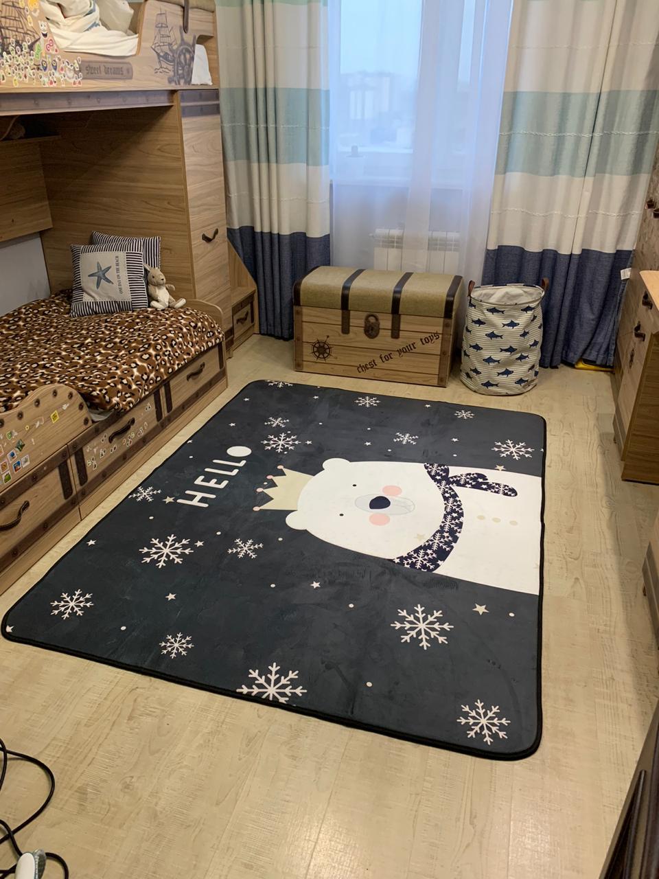 Плюшевый коврик — мат «hello bear» Размер 200×150 см