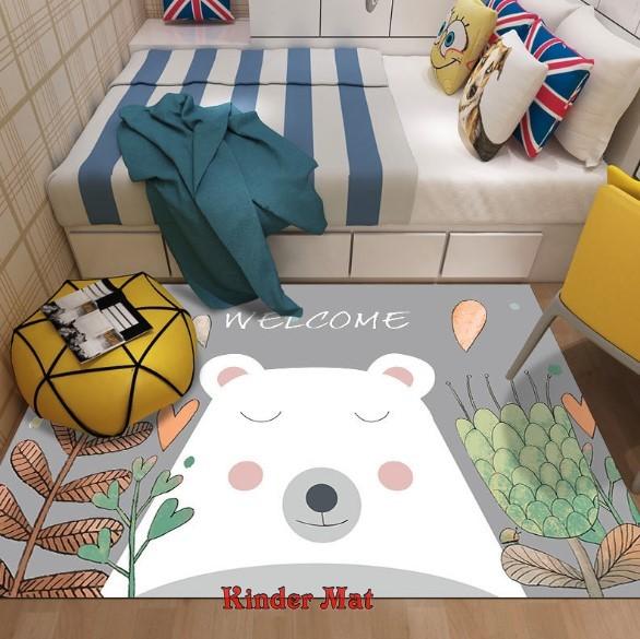 Плюшевый коврик без наполнителя «Медведь» Размер 200×140х0,5 см