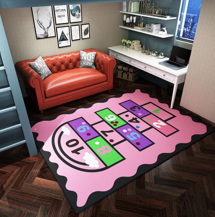 Плюшевый коврик без наполнителя «Классики — розовые» Размер 200x140x0.6 см