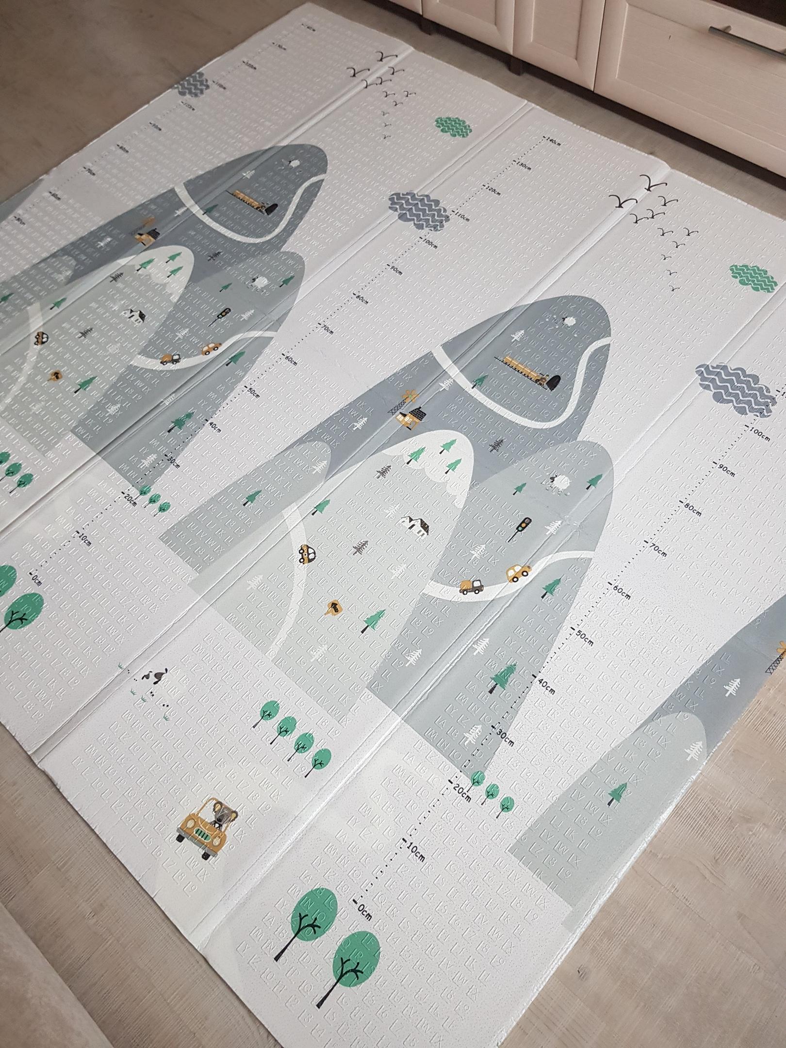 Складной коврик XPE «Холмы и мишки» Размер 200x180x1 см