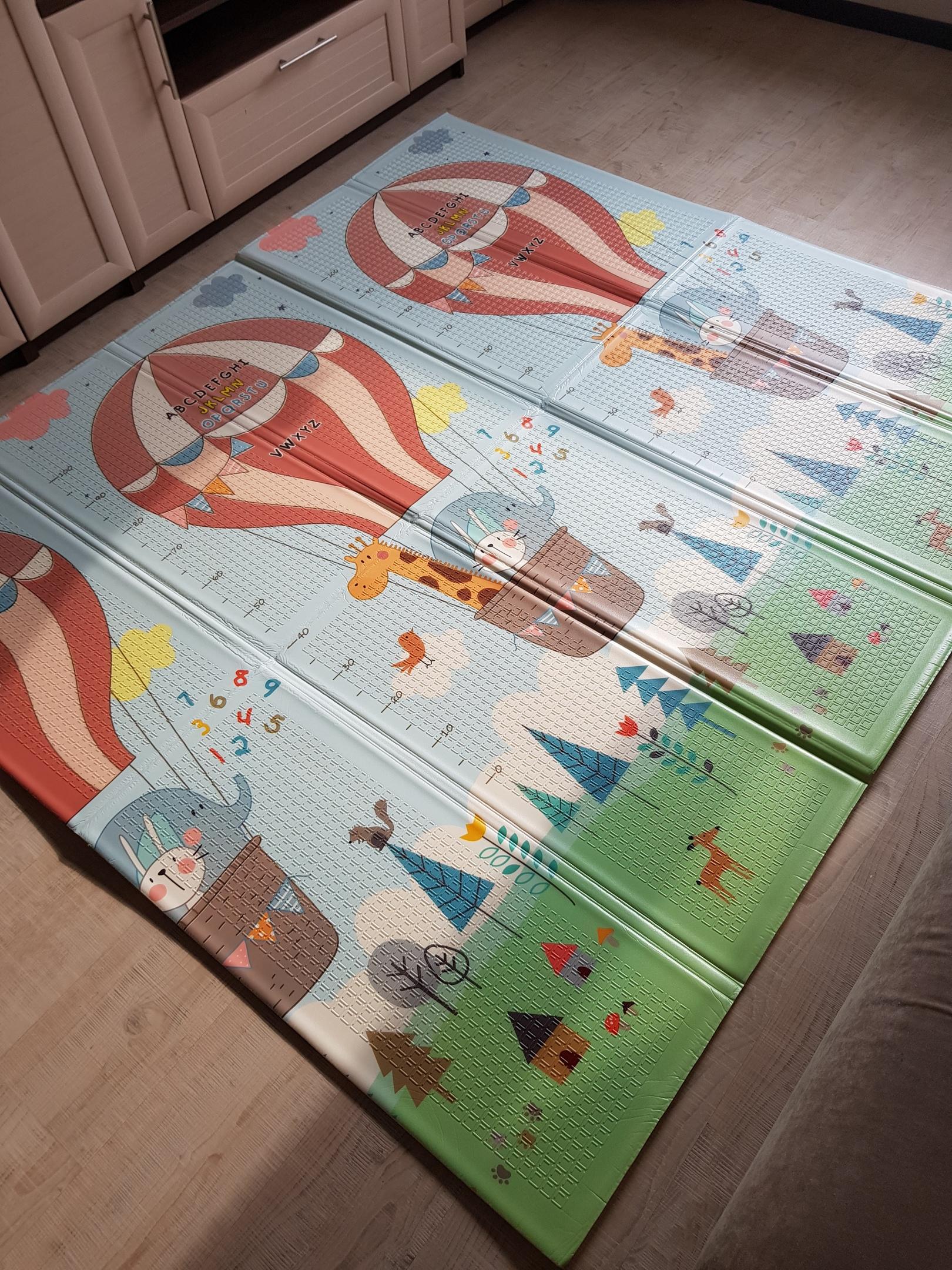 Складной коврик XPE «Парашютисты»  — размер 200*180*1 см